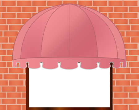 awning: illustration of  Storefront Awning in reddish pink
