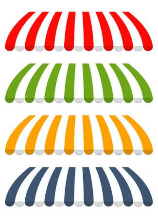 図 4 つの異なる色の日除け