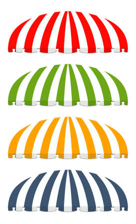 illustration of four different colored awnings Stock Vector - 7998062