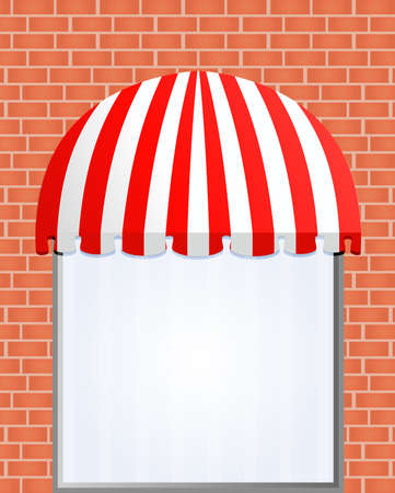 illustration of Storefront Awning in red Stock Vector - 7998063
