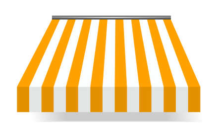 vector illustration of Storefront Awning in Yellow Stock Vector - 8074131
