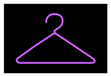 �back ground�: coat hanger illustration over black back ground in purple