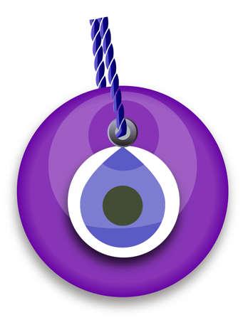 vulgar: purple bead, worn to avert the evil eye Illustration