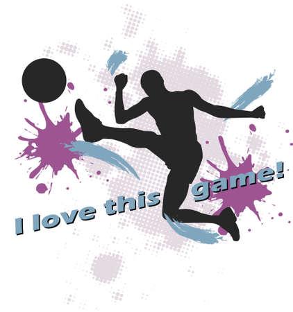 football design of man kicking soccer ball Vector
