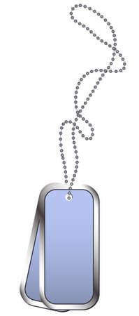 dogtag: vector illustration of Dog Tags in shiny gray Illustration
