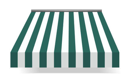 vector illustration of  Storefront Awning in green Stock Vector - 8074203