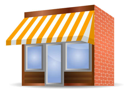 vector illustration of Storefront Awning in yellow Vector