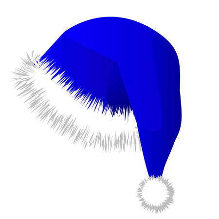 classical saint hat christmas cap with white and grey colors in Vector