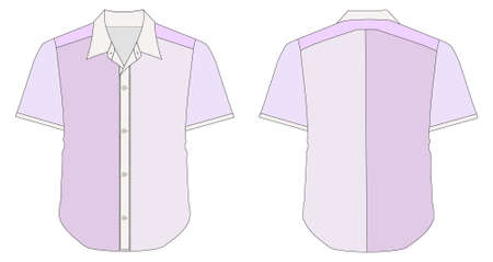 dress shirt: vector illustration of Collar Dress Shirt In Purple Color Tones