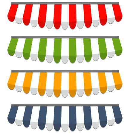 vectorillustratie van vier verschillende gekleurde vector voortenten
