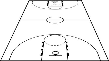 center court: Basketball Court Field Ground Illustration