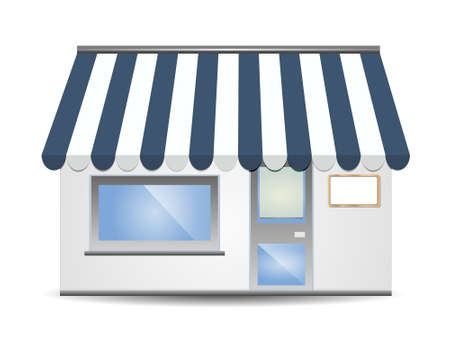 Storefront Awning in blue Vector