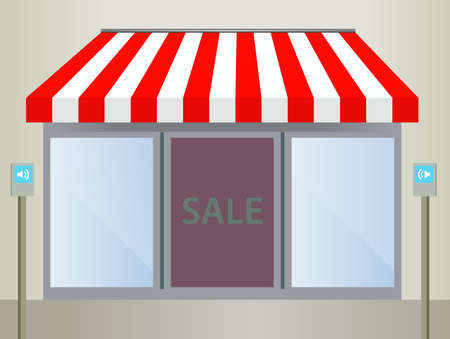 Storefront Awning in red Vector