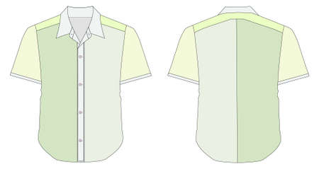 dress shirt: Collar Dress Shirt In Green Color Tones