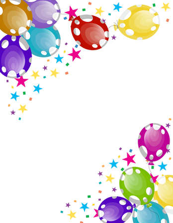 party balloons with white spots Stock Vector - 8146477