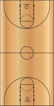 Basketball Court Field Ground Stock Vector - 8146481
