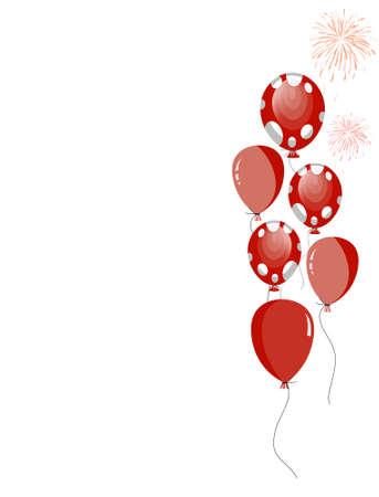 globos de fiesta: Globos de partido rojo con manchas blancas
