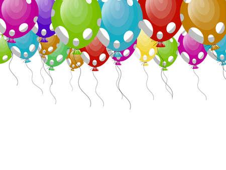 globos fiesta: Globos de partido con manchas blancas