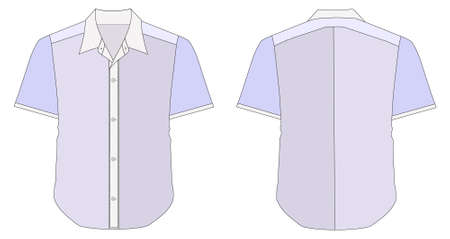 blue collar: Collar Dress Shirt In Blue Color Tones