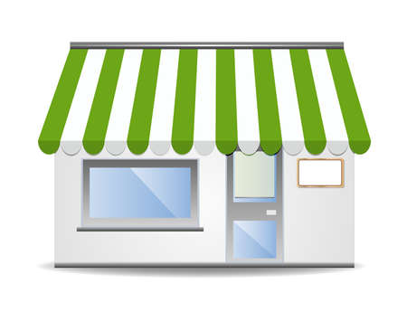 vitrine: Storefront Awning in green