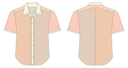 dress shirt: Collar Dress Shirt In Brick Color Tones