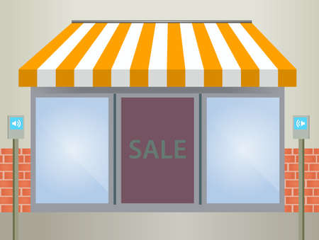 Storefront Awning in yellow Vector