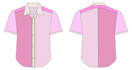 business shirts: Camisa de vestir de collar en tonos de Color azul Vectores