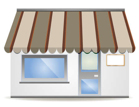 illustration of four different colored  awnings  Stock Vector - 8213716