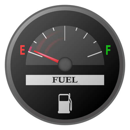 illustration of car dash board petrol meter, fuel gauge Illustration