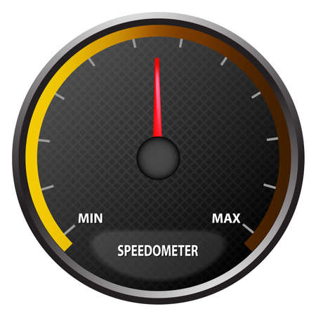 illustration of a speedometer on white back ground
