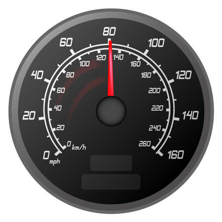 illustration of a speedometer that is speeding to the Limit of the car vehicle Vector