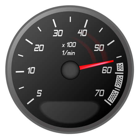 illustration of a temperature of the car vehicle Stock Vector - 8213799