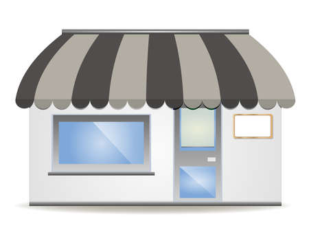 awnings:  illustration of four different colored  awnings