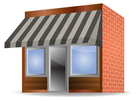illustration of Store Front Awning on white background Vector
