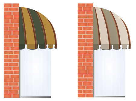 illustration of two different colored awnings  Vector