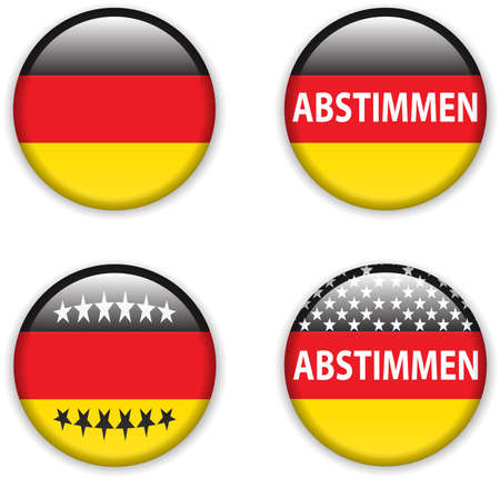 presidental: vector illustration of  empty vote badge button for germany elections Illustration
