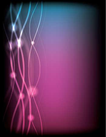specular: ilustraci�n vectorial de fondo de luz de ne�n con ondas