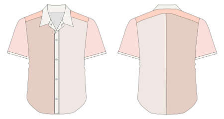 vector illustration of Collar Dress Shirt In Red Color Tones Vector