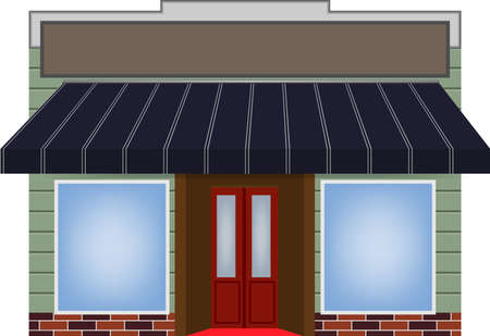 illustration of one different color vector awning  Vector