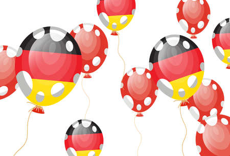 edit valentine: illustration of balloon of German flag  Illustration