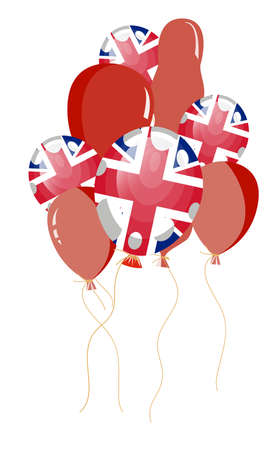 vector illustration of balloon of United Kingdom flag with white spots Stock Vector - 8463114