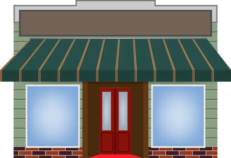 illustration of one different color  awning