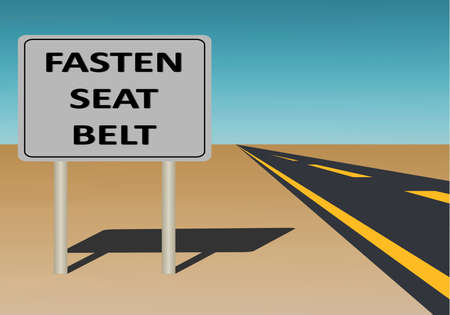 vector illustration of  a  sign with fasten seatbelt Stock Vector - 8463125