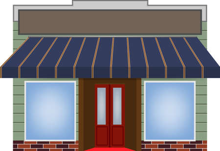 awning: illustration of one different color awning Illustration