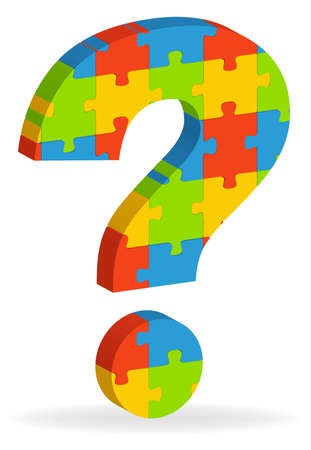 illustration of  a question mark puzzle Stock Vector - 8544512