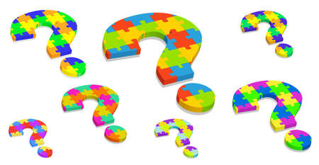 illustration of  a question mark puzzle Vector