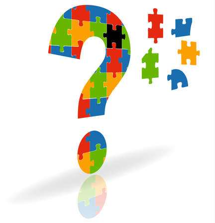 illustration of  a question mark puzzle