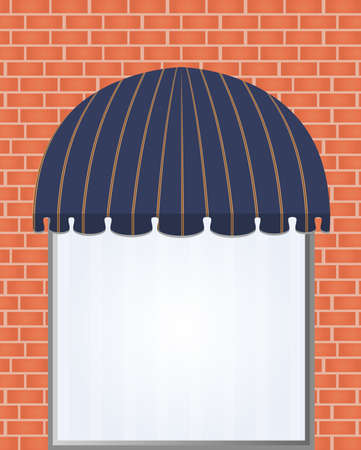 illustration of one different color awning  Vector