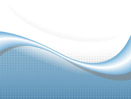 illustration of  a  blue wave over white background  Vector