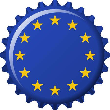 edit valentine:  illustration of flag of European Union in crown cap